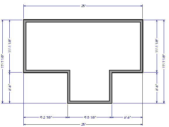 Automatic exterior dimensions for all the walls