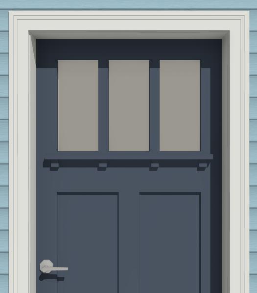 Camera view of a doors exterior casing