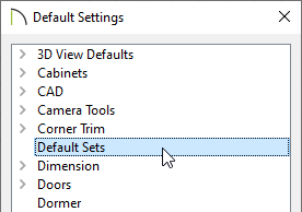 Select Default/Annotation Sets in the Default Settings dialog