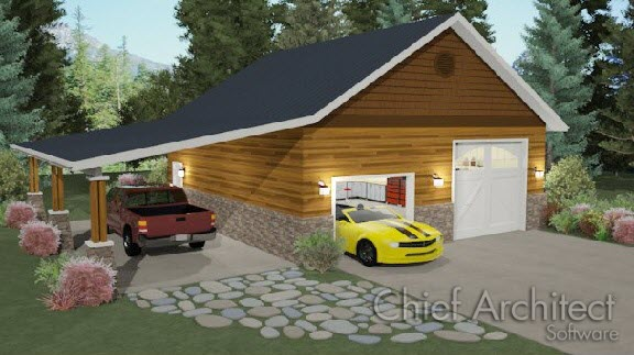 Creating a carport for A frame house plans with attached garage