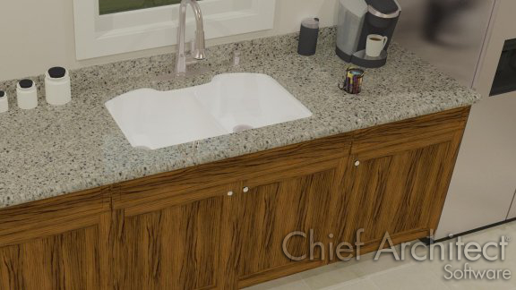 custom shaped kitchen sink