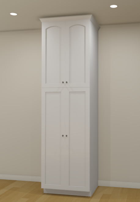 Full camera view of a cabinet with different door styles