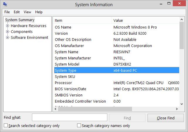 Determining If Your Computer Is 32 Bit Or 64 Bit