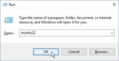 Microsoft Run dialog