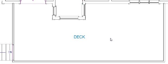 Drawn deck room