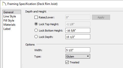 Modifying the deck rim joist