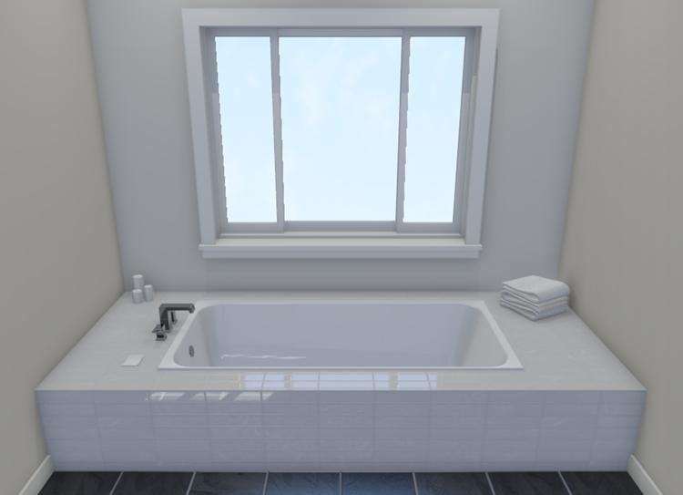 Camera view of a custom tub enclosure
