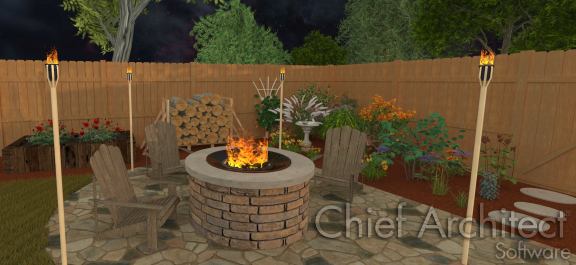 ray traced firepit
