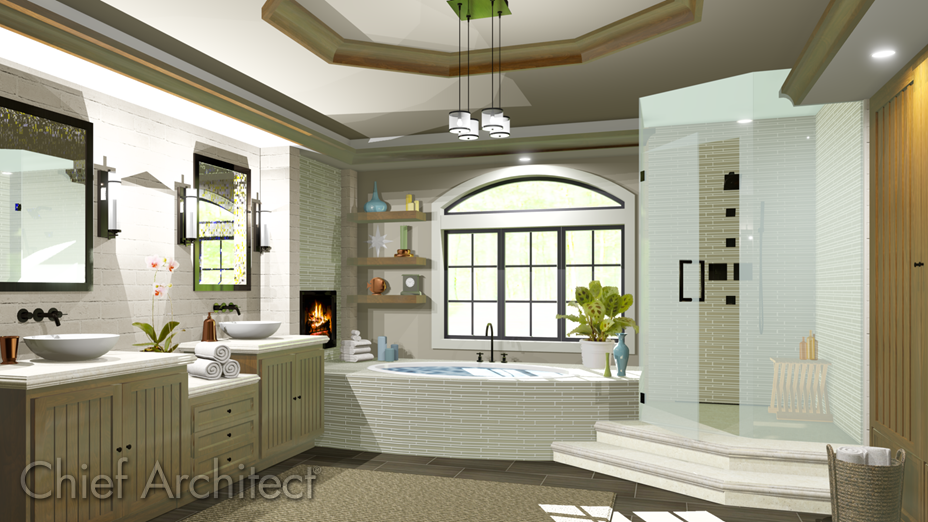 Bathtub with an enclosure