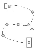 Using the break edit handles to modify the shape of the path