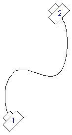 Advanced spline with two key frames