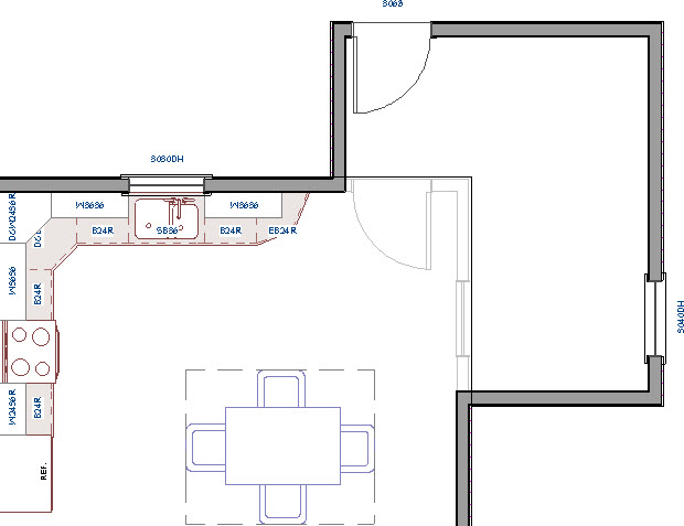 CAD mask behind the active floor plan