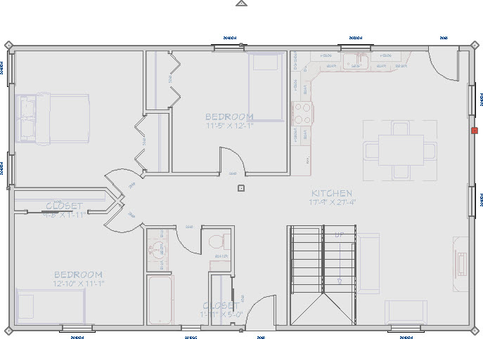 CAD mask overlayed on top of a floor plan