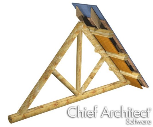 Roof on top of Log Truss