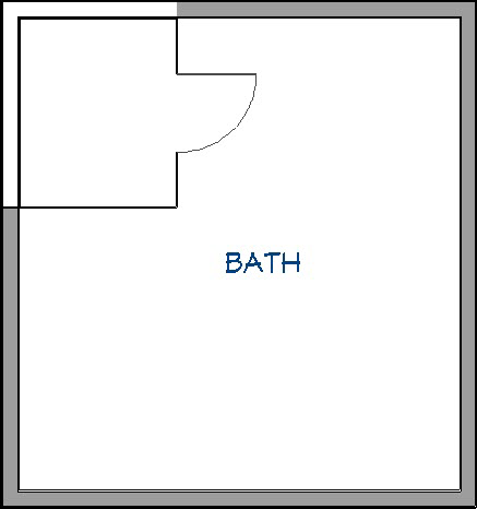 Steam shower with properly defined walls