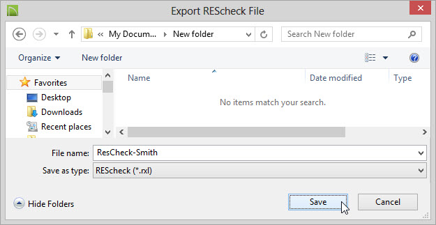 Exporting your drawings to REScheck