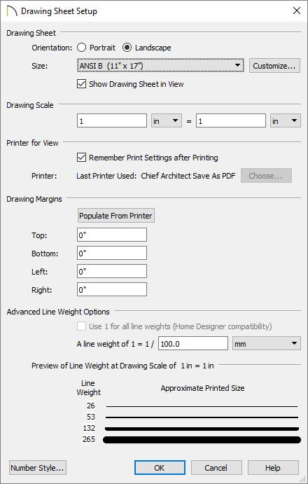 Setting up the layout drawing sheet