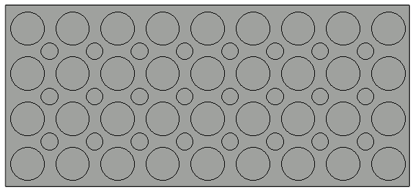 Several circles created in the Polyline Solid