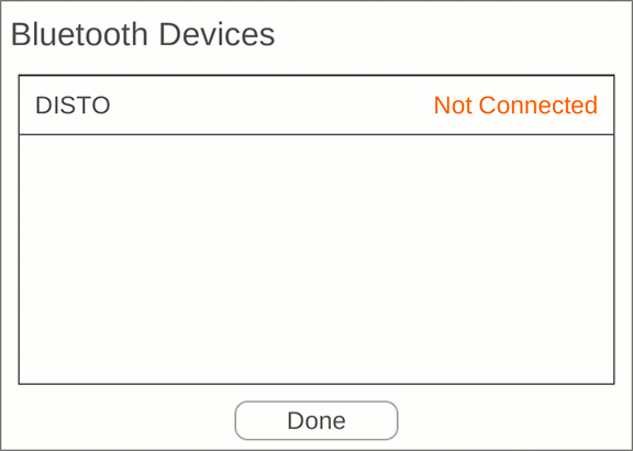 Bluetooth devices menu.