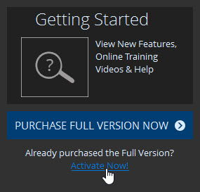 From The Welcome Dialog You Can Click The Activate Now! Option To Activate  With A Key You Have Already Purchased Or Click Purchase Full Version Now To  Go ...
