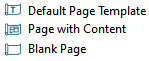 Layout page icons in the Project Browser distinguish what the page is.