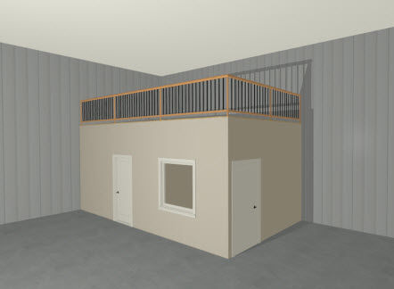 Full Camera view showing a storage loft
