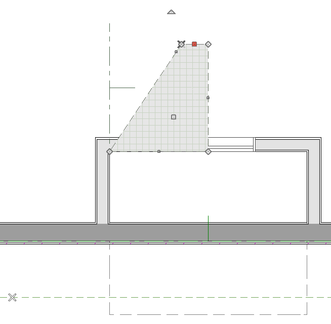 Reshape roof plane to roof intersection point