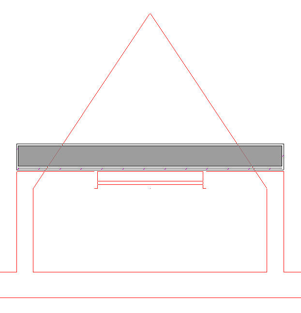 External Wall drawin over roof planes showing from Reference Floor Display