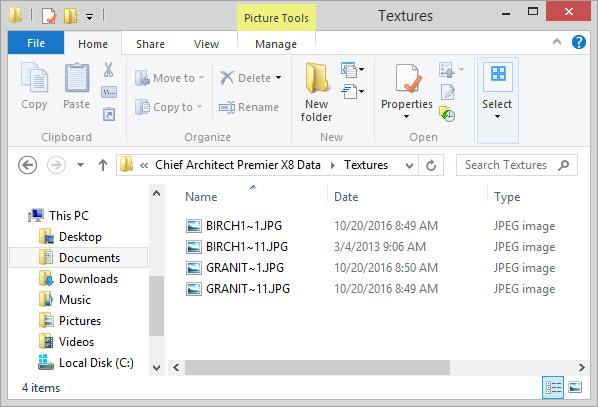 X8 Data textures folder