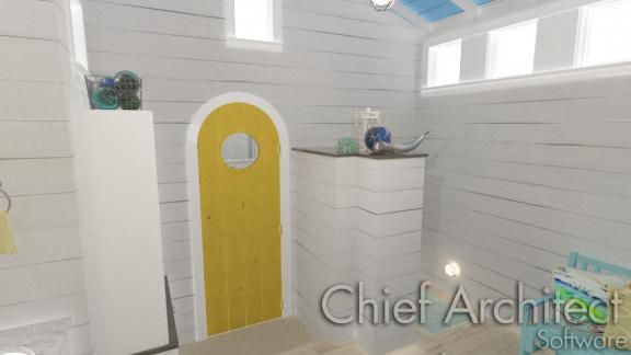 Shelf closet in entry