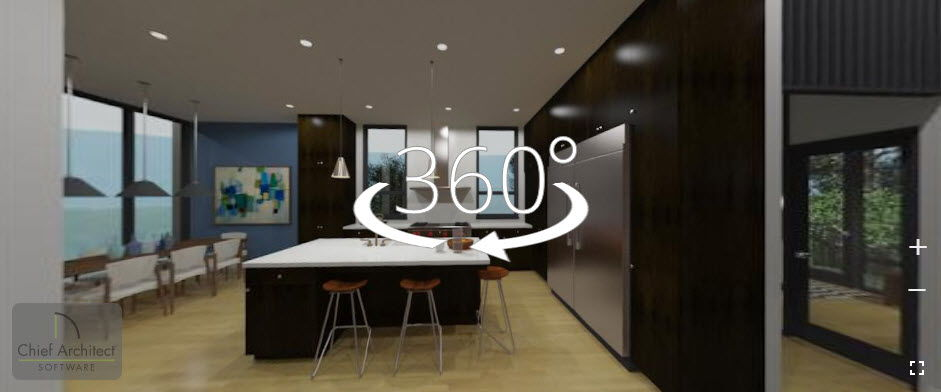 An example render of the 360 viewer.