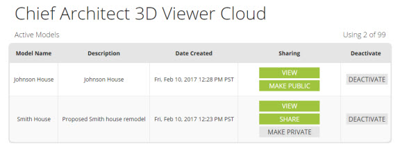 Chief Architect 3D Viewer Cloud
