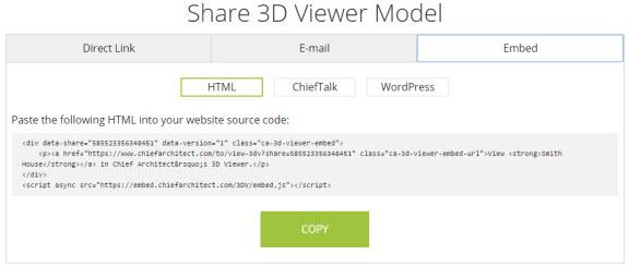 Embed HTML option