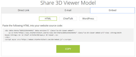 Embed HTML option