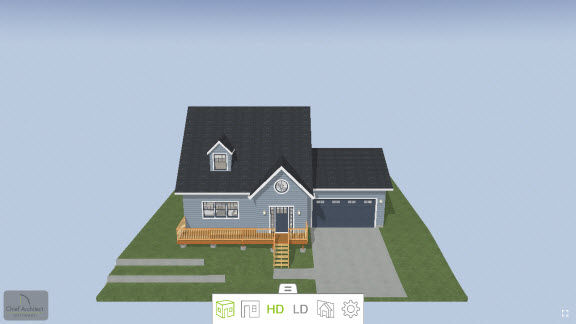 Example of a 3D Model in the Chief Architect 3D Viewer.