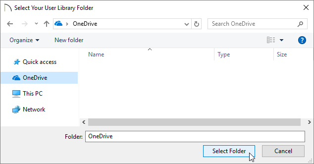 Select Your User Library Folder dialog