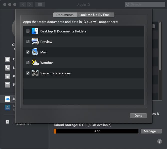 Open iCloud Drive Options...