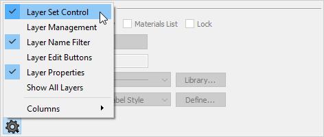 Layer Set Control