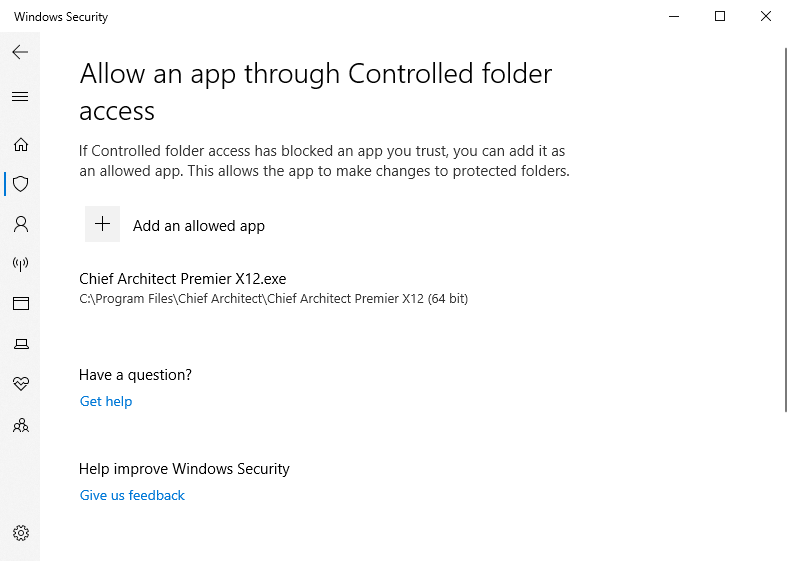 Chief Architect X12 is now an allowed app