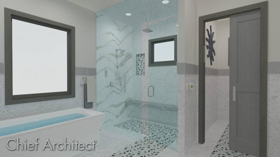 Bachelor view bath remodel with a custom glass shower