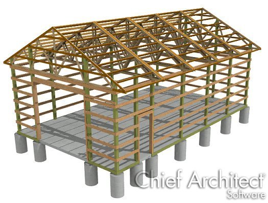 creating a traditional pole barn structure