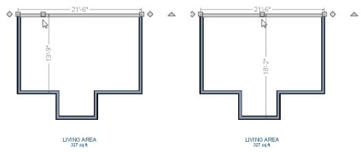 Moving Walls Using Dimensions