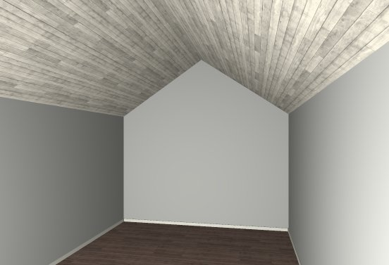 Camera View of room with flat ceiling removed showing vaulted ceiling