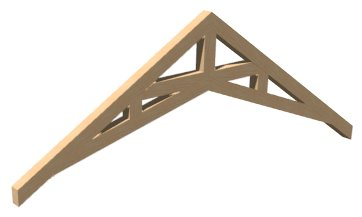 Scissor truss with eight inch cords and webbing