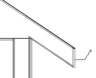 Backclipped cross section view displaying the gutter molding profile
