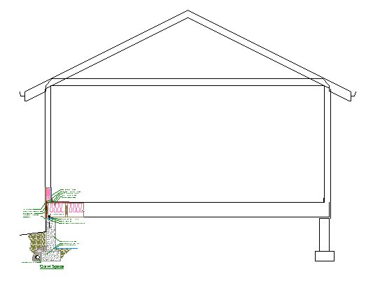 Cross section view with added CAD details.