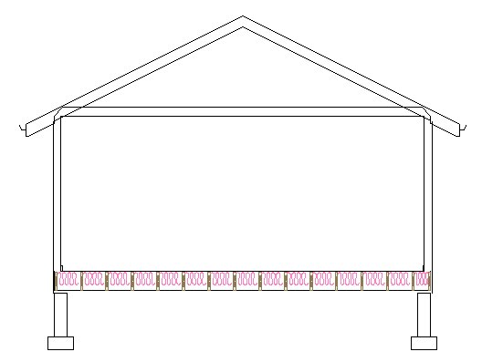 Cross Section of house showing insulation in the floor platform