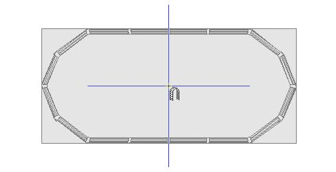 Symbol of above ground pool being placed in a plan