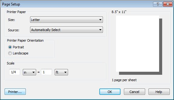 Click the Printer button in the Page Setup dialog to choose your PDF print driver