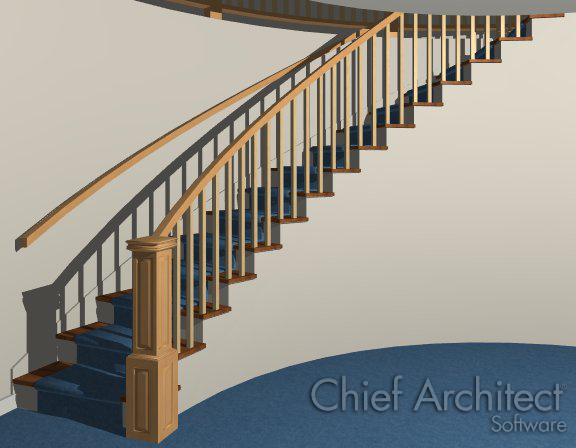 I Would Like To Place Curved Stairs In My Plan Next To A Curved Wall Using  Home Designer. How Can I Get The Curved Wall To Line Up With The Curved  Stairs?